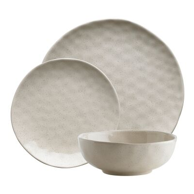 Ecology Speckle 12 Piece Stoneware Dinner Set, Oatmeal