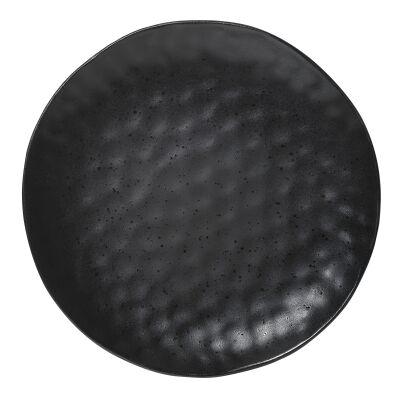 Ecology Speckle Stoneware Dinner Plate, Ebony