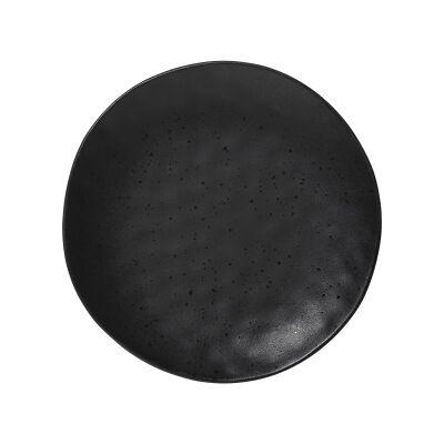 Ecology Speckle Stoneware Side Plate, Ebony