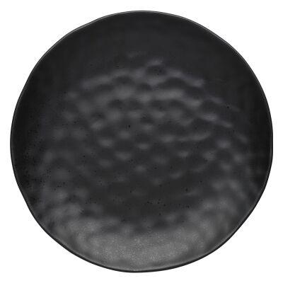 Ecology Speckle Stoneware Round Platter (Gift Boxed), Ebony
