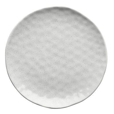 Ecology Speckle Stoneware Dinner Plate, Milk