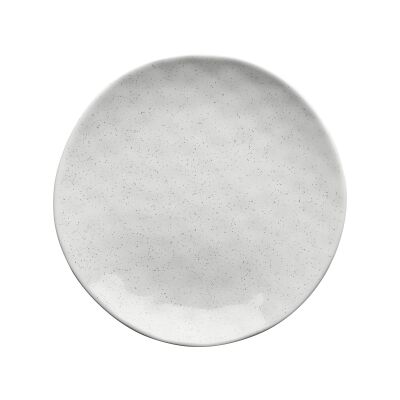 Ecology Speckle Stoneware Side Plate, Milk