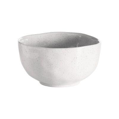 Ecology Speckle Stoneware Noodle Bowl, Milk