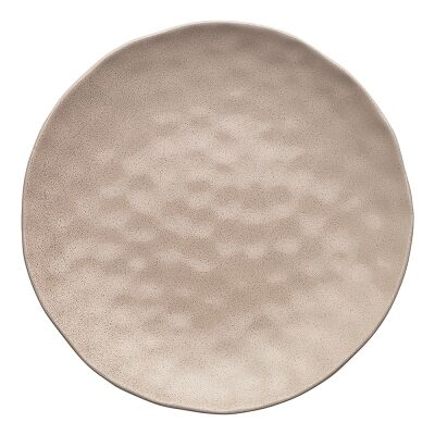 Ecology Speckle Stoneware Round Serving Platter, Cheesecake