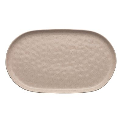 Ecology Speckle Stoneware Oval Serving Platter, Cheesecake