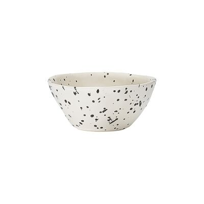 Ecology Speckle Stoneware Dip Bowl, Polka
