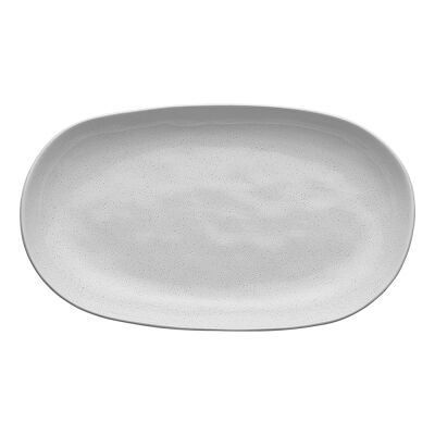Ecology Speckle Stoneware Oval Shallow Bowl, Large, Milk