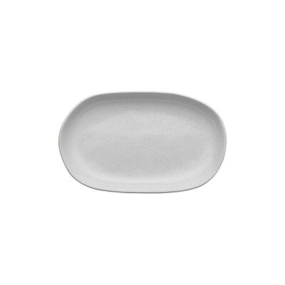 Ecology Speckle Stoneware Oval Shallow Bowl, Small, Milk