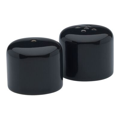 Ecology Mineral Stoneware Salt & Pepper Shaker Set, Midnight