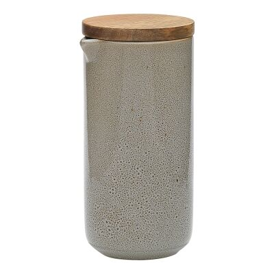 Ecology Mineral Stoneware Oil / Vinegar Dispenser, Overcast