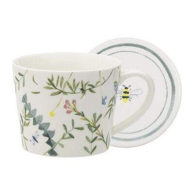 Ecology Greenhouse Ceramic Mug & Coaster Set