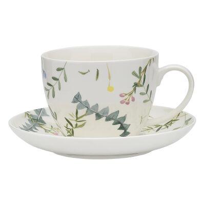 Ecology Greenhouse Ceramic Teacup & Saucer Set