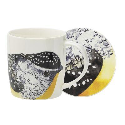 Ecology Paradiso New Bone China Mug & Coaster Set, Pardalote