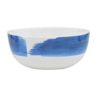 Ecology Watercolour Bone China Noodle Bowl, Ocean