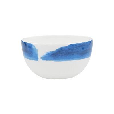 Ecology Watercolour Bone China Rice Bowl, Ocean