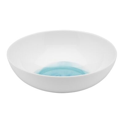 Ecology Watercolour Bone China Bowl, Aqua