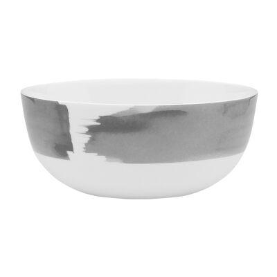 Ecology Watercolour Bone China Noodle Bowl, Smoke