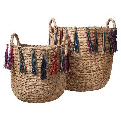Amira 2 Piece Woven Basket Set