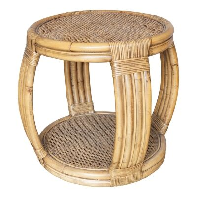 Cayman Rattan Round Side Table
