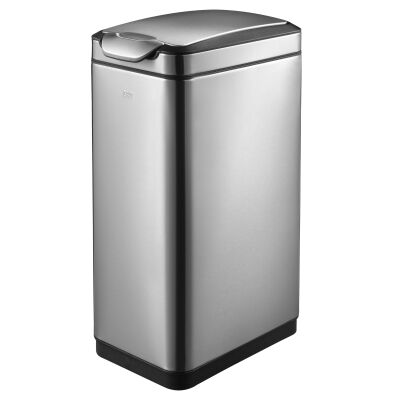 EKO Touchpro Stainless Steel Bin, 30 Litre, Silver