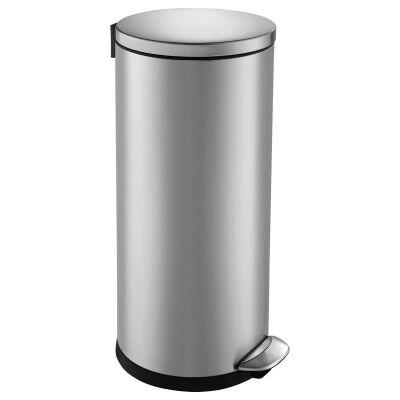 EKO Luna Deluxe Stainless Steel Step Bin, 30 Litre, Silver
