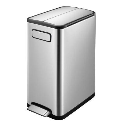 EKO Eco Fly Step Can Stainless Steel Waste Bin, 30L, Silver