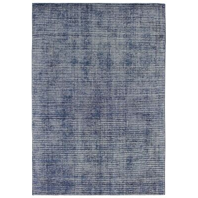 Elements Hand Knotted Wool Rug, 160x230cm, Navy