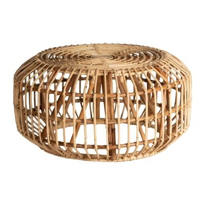 Cape Rattan Round Coffee Table, 80cm, Natural
