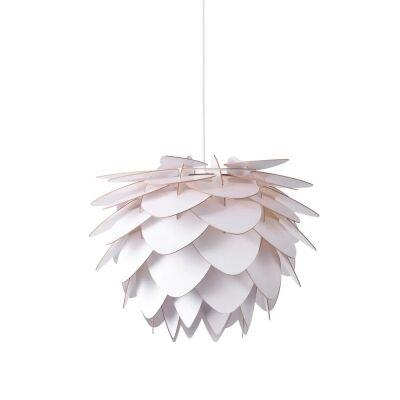 Zara Wooden Pendant Light, White