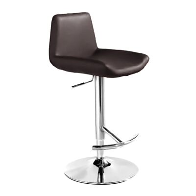 Fremont PU Leather Gas Lift Counter / Bar Stool, Chocolate