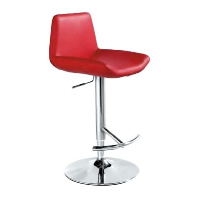 Fremont PU Leather Gas Lift Counter / Bar Stool, Red