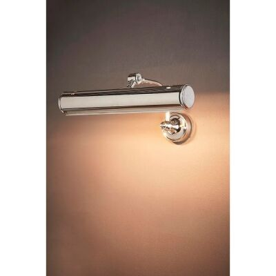 Barclay Metal Picture Wall Light, Shiny Nickel