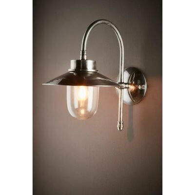 Legacy IP54 Outdoor Metal Wall Light, Antique Silver