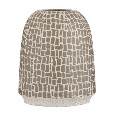Bisma Ceramic Vase, Mushroom
