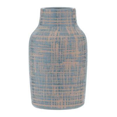 Nayo Ceramic Vase, Large, Teal