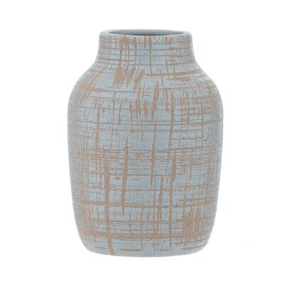 Nayo Ceramic Vase, Small, Blue