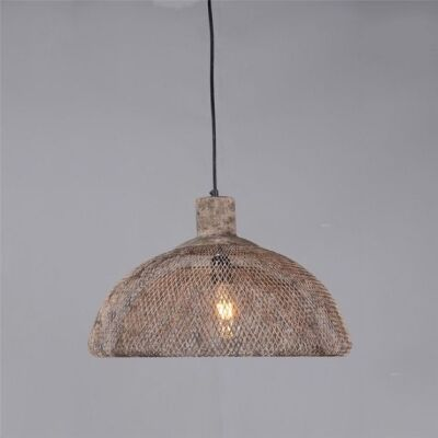 Valentino Rustic Metal Pendant Light, Large