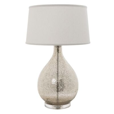 Brompton Acrylic Table Lamp with Ivory Linen shade