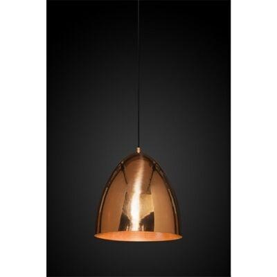 Egg Metal Pendant Light, Copper