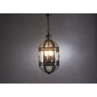 Madrid Metal & Glass Pendant Light - Bronze
