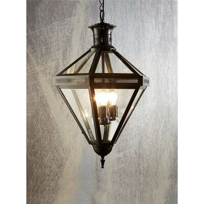 Rockefella Metal & Glass Pendant Light - Bronze