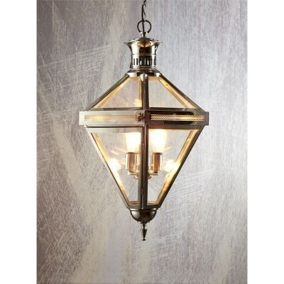Rockefella Metal & Glass Pendant Light - Silver
