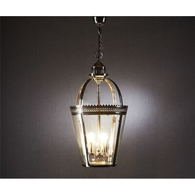 Piccadilly Metal & Glass Pendant Light - Silver