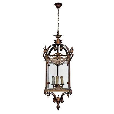 Riems Rustic Metal & Glass Pendant Light - Large
