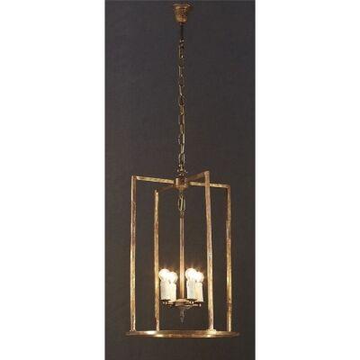 St Palais Rustic Metal Pendant Light - Large