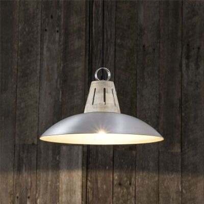 Capri Metal Pendant Light - Silver