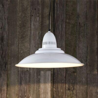 Brighton Metal Pendant Light - White