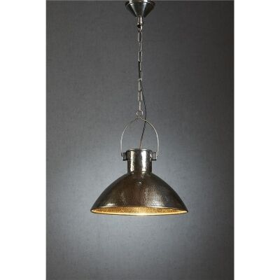 Nelson Hammered Metal Pendant Light - Antique Silver