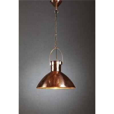 Nelson Hammered Metal Pendant Light - Copper