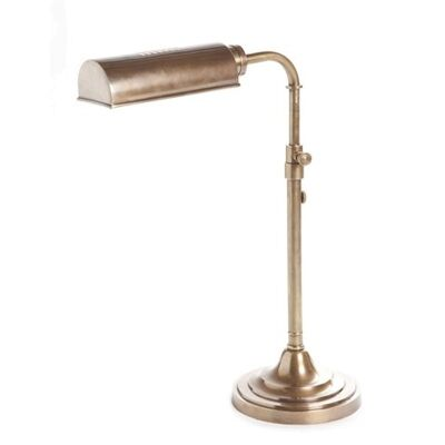Brooklyn Adjustable Metal Table Lamp - Antique Brass